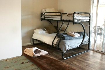 Main bedroom: Double and single bunk bed